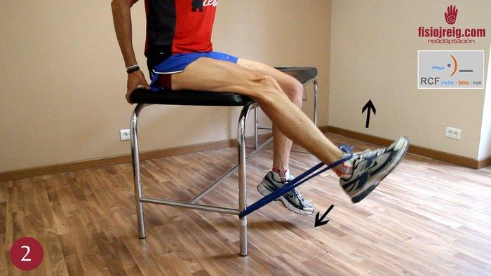 Ejercicio rehabilitación rodilla