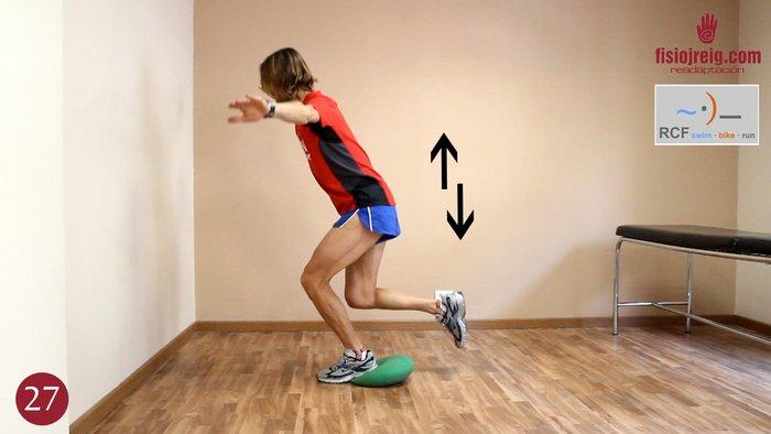 Ejercicio flexoextensor rodilla tobillo con desequilibrio