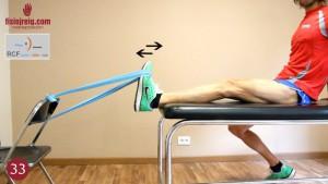 Ejercicio potenciación tibial anterior con goma