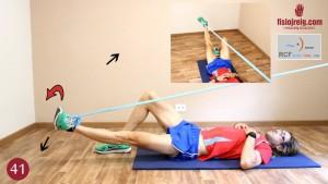 Ejercicio para biceps femoral con goma