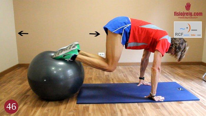 Ejercicio flexibilidad de rodilla
