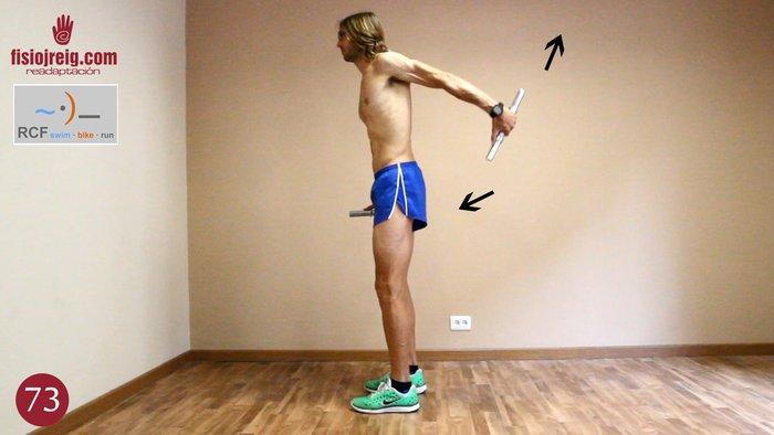 Potenciación deltoides posterior