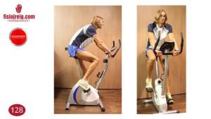 Ejercicio de bicleta reahabilitacion rodilla