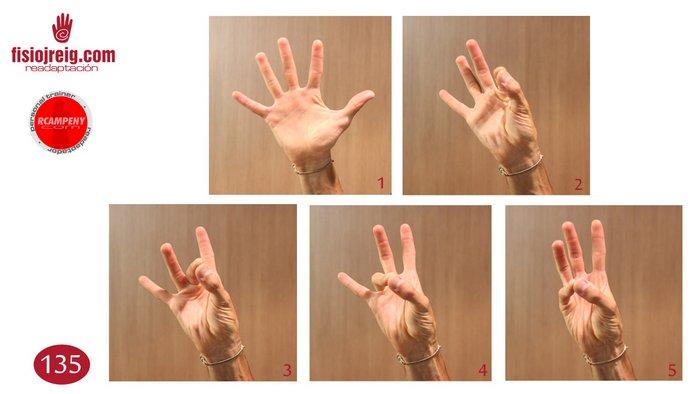 Ejercicio rehabilitación mano