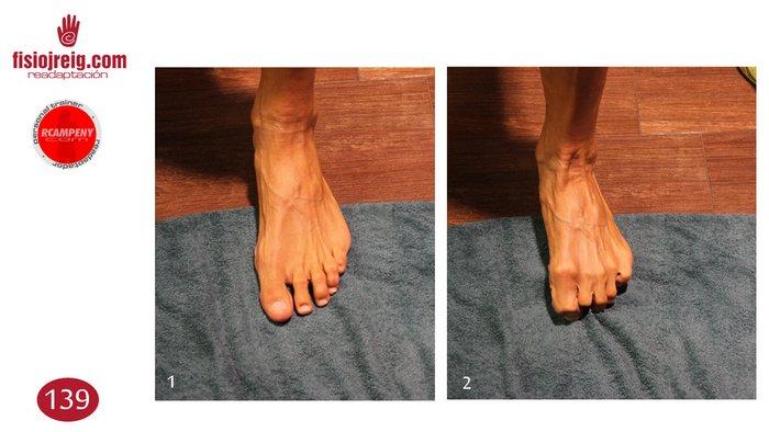 Ejercicio flexor dedos pie
