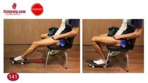 Ejercicio movilidad rodilla tobillo monopatín