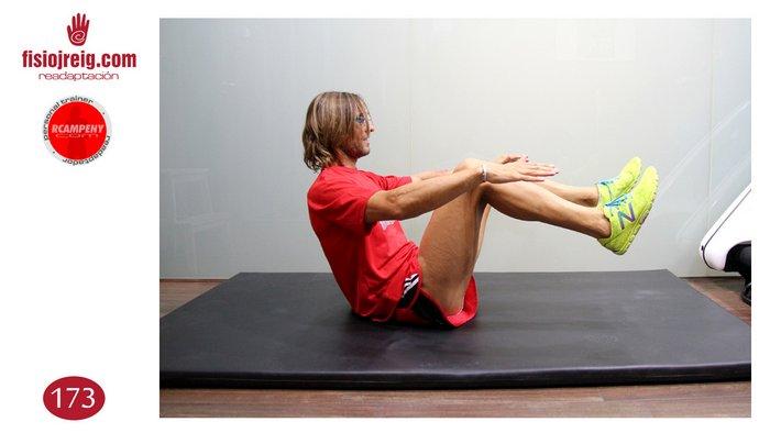 Estiramiento abdominal sentado