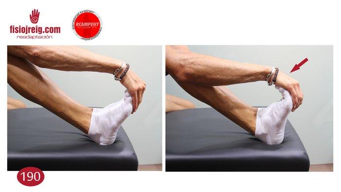 Estiramiento manual planta del pie fascitis