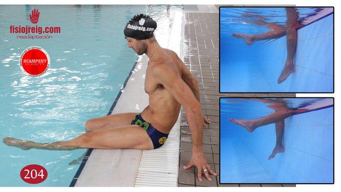 Rehabilitación rodilla en piscina
