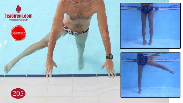 Rehabilitación cadera en piscina