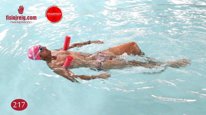 Ejercicio de técnica de natación espalda