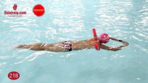 Ejercicio de técnica de natación crol