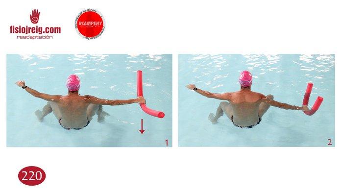 Fortalecimiento de brazo en piscina