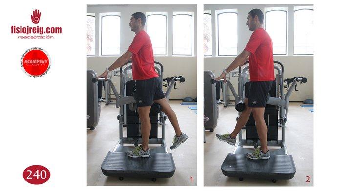 Trabajo de flexión de cadera en máquina