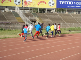 Atletas Etíopes Estadio Olímpico