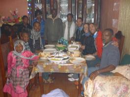 Con familia de amigos etíopes