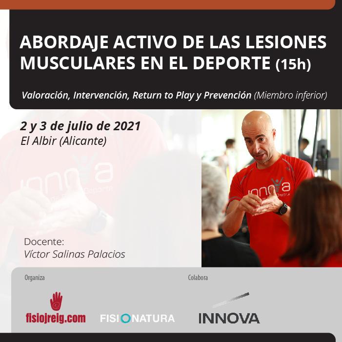 curso de lesiones deportivas Víctor Salinas