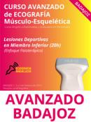 Curso de Ecografía Avanzado, Lesiones Deportivas en Miembro Inferior en Badajoz 1, 2 y 3 de febrero 2019 (20h)
