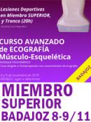 Curso de Ecografía Musculoesquelética Avanzado, Lesiones Deportivas Miembro SUPERIOR (20h) 8 y 9 de noviembre 2019 (BADAJOZ)