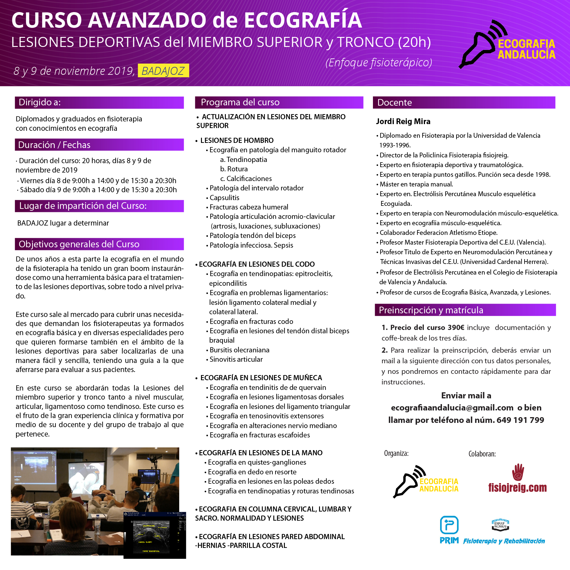 curso ecografia Badajoz