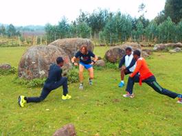 Entrenando con atletas etíopes
