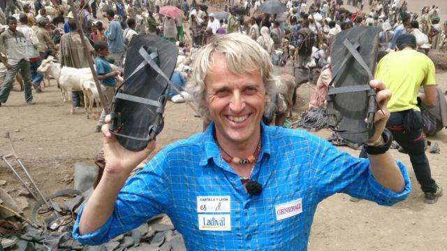 Jesús Calleja en mercado etiope