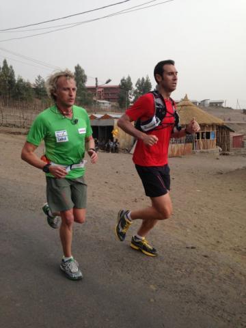 Jordi Reig Entrenando con Jesús Calleja