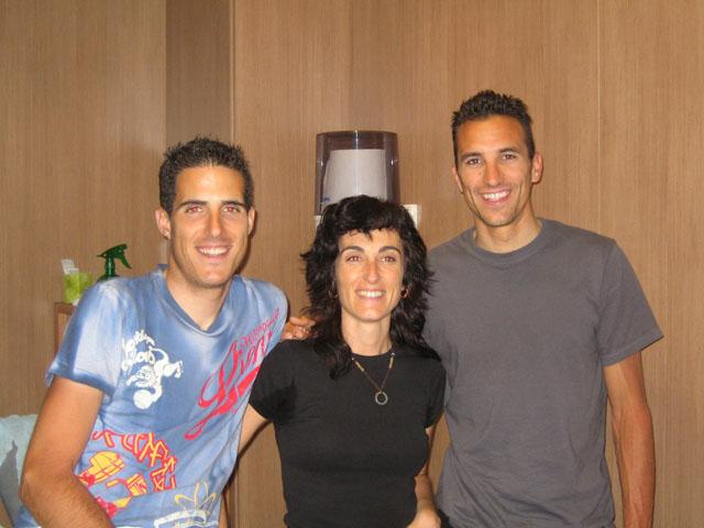 Manolo, Eva y Rubén