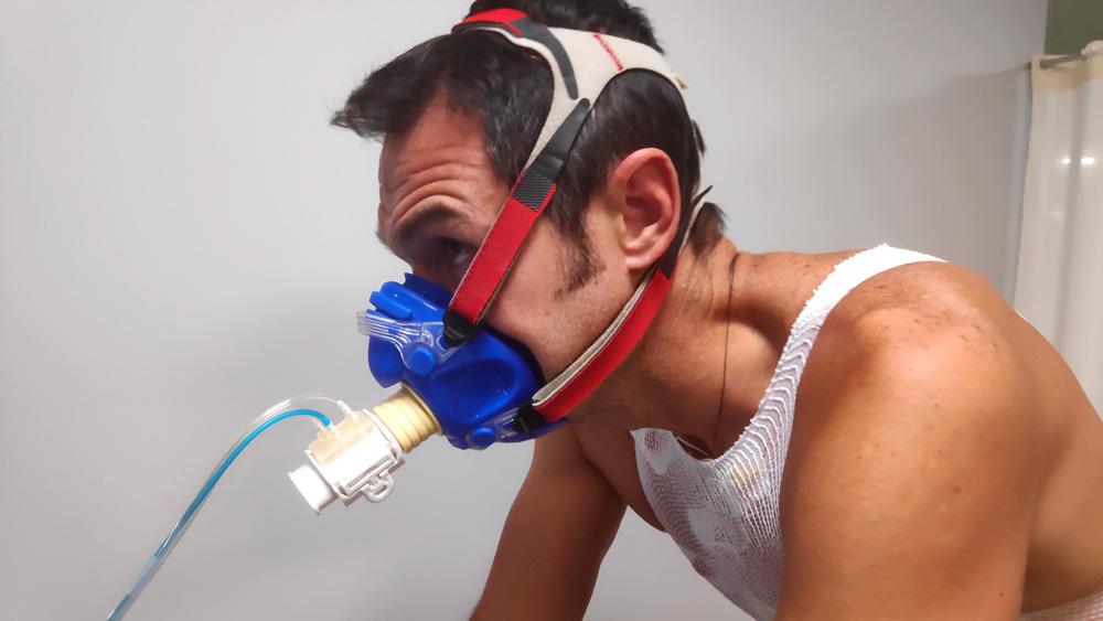 prueba de esfuerzo gases