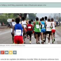 Runners for Ethiopia en la Cope con Jesús Calleja